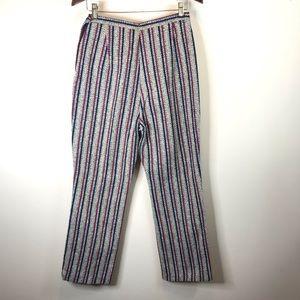 Pants - Vintage High Rise Striped Drug Rug Pants